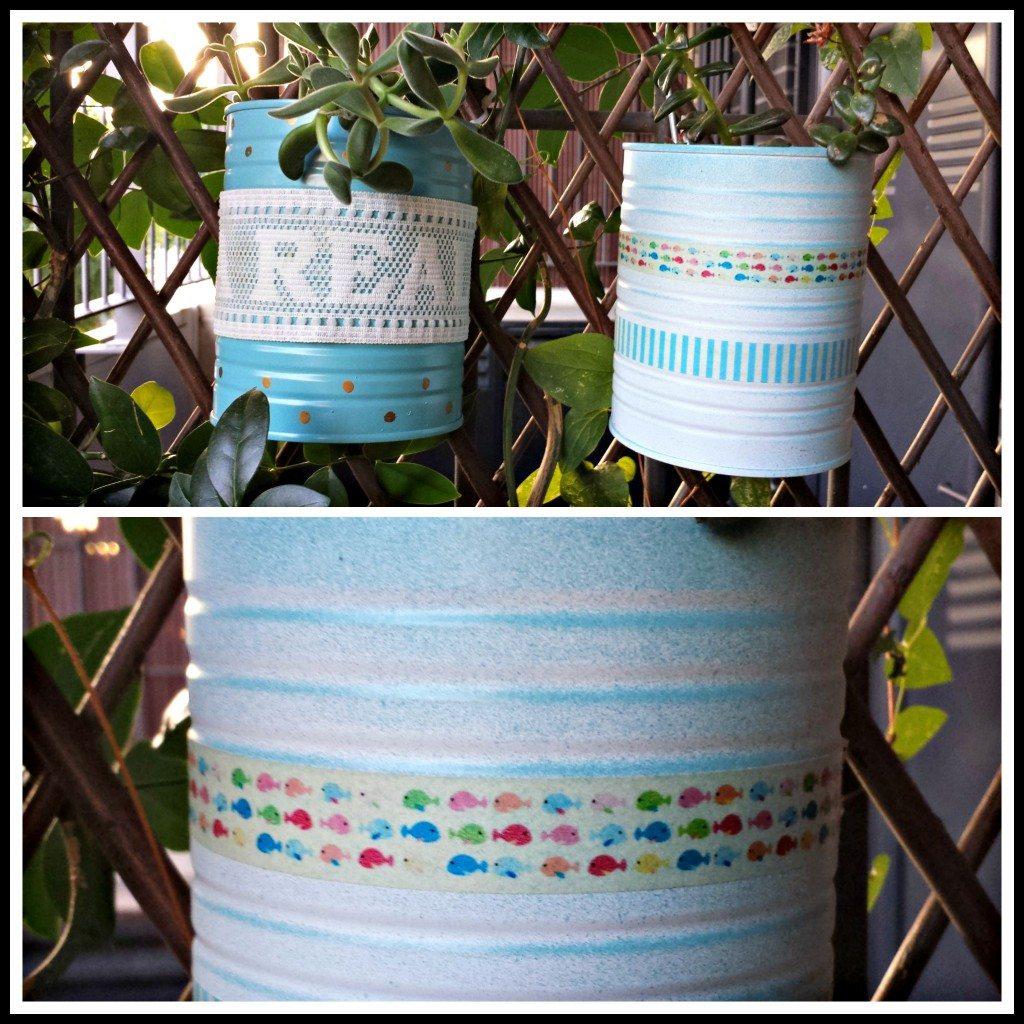 Diy decoración de latas con pintura en spray