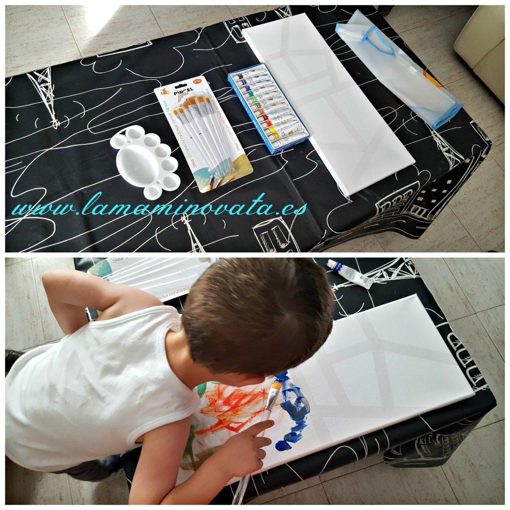 Manualidad infantil cuadros pintados