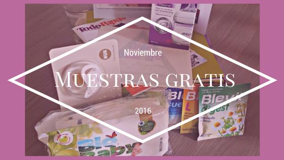 Muestras gratis de Noviembre 2016