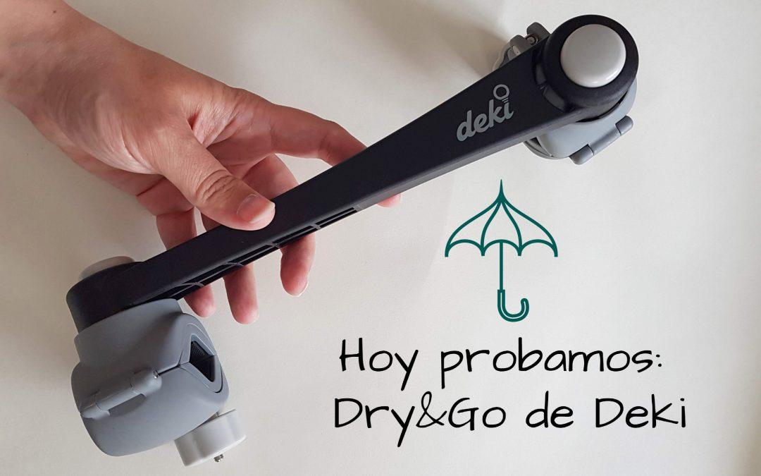Probando el sujetaparaguas Dry&Go de Deki