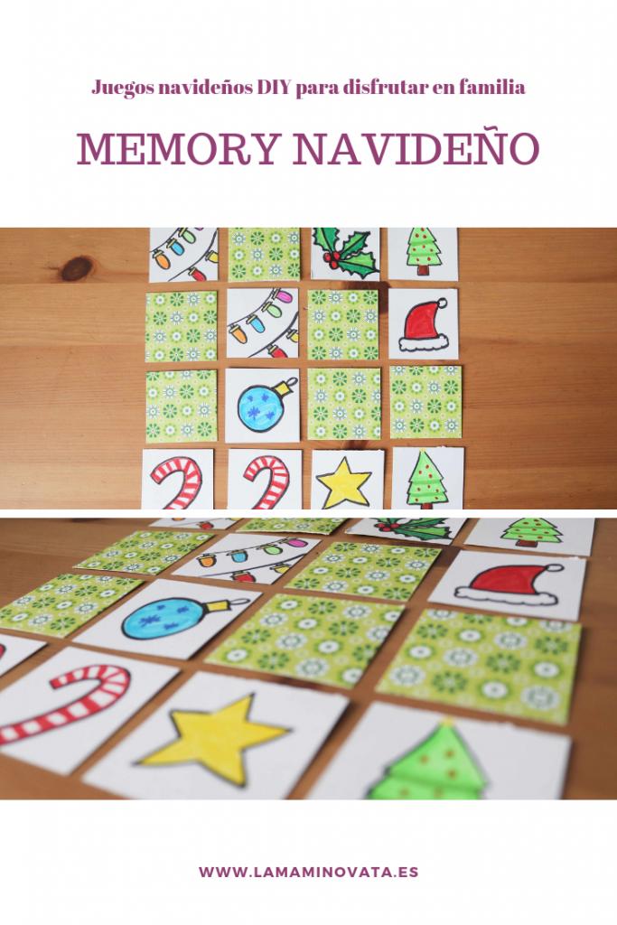 Juegos navideños DIY memory navideño