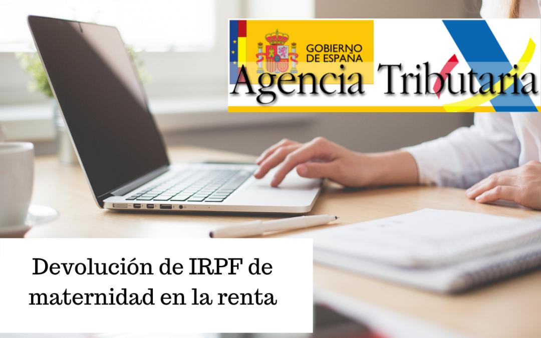 Devolución de IRPF de maternidad en la renta