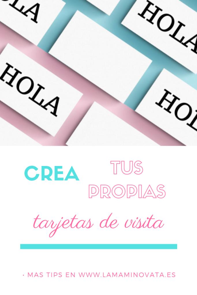 Como hacer tarjetas de visita para bloggers