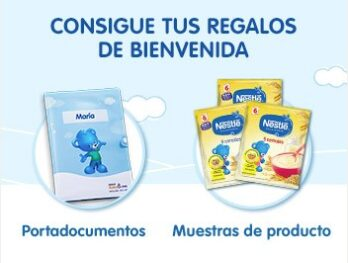 Canastillas y muestras gratis para bebe y embarazada Nestle