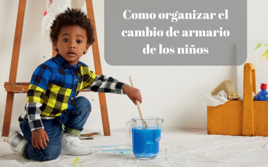 Organizar el cambio de armario de los niños