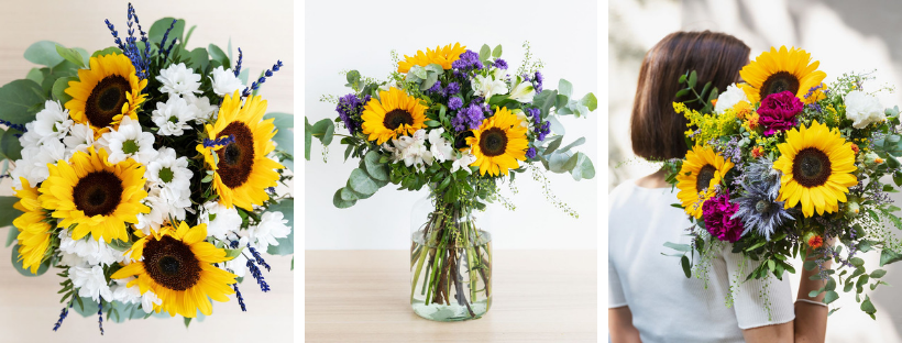 Auto regalarse flores girasoles