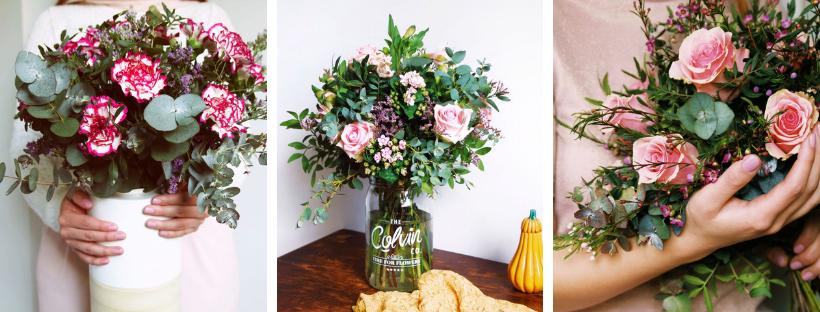 Auto regalarse flores rosas y claveles
