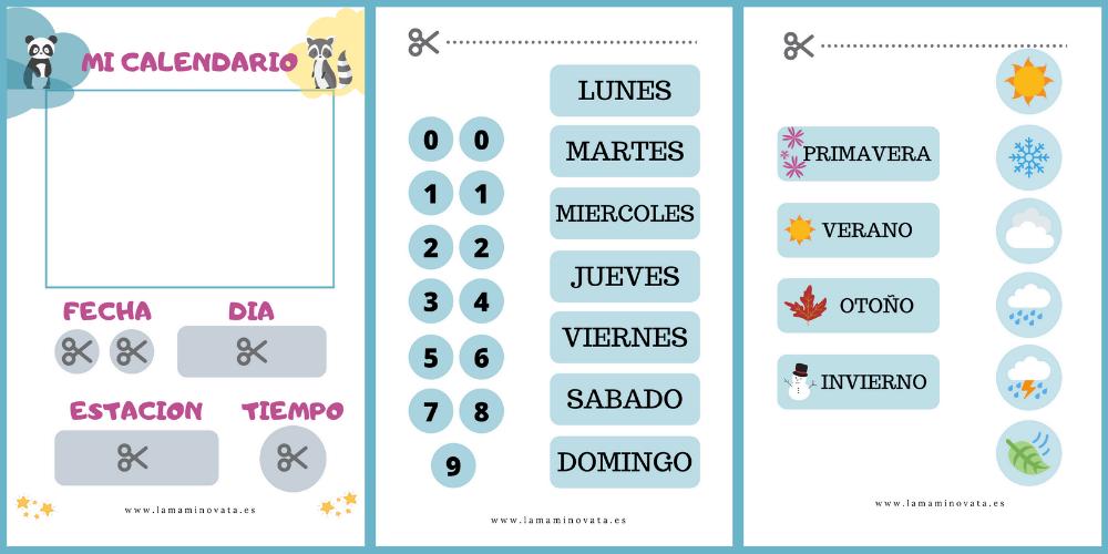 Como hacer un calendario perpetuo para niños