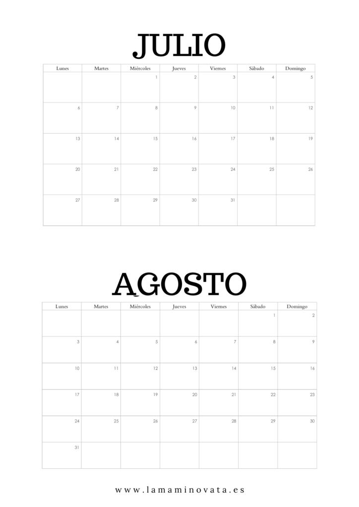 calendario gratis 2021