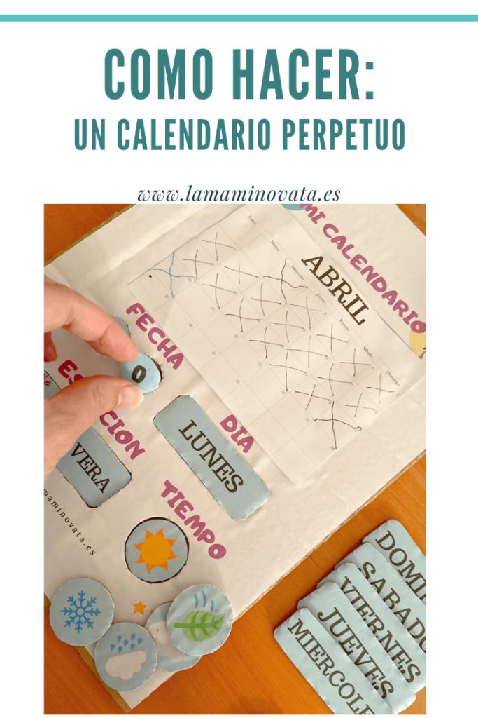calendario perpetuo para niños